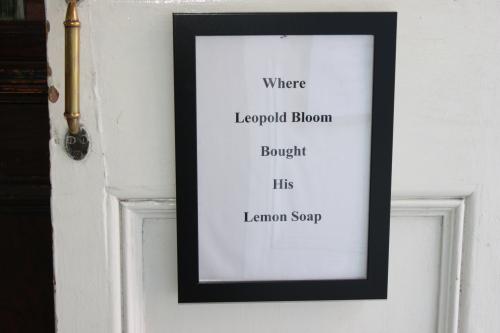 Ulysses, Leopold Bloom, James Joyce,  lemon soap, Sweny's pharamacy