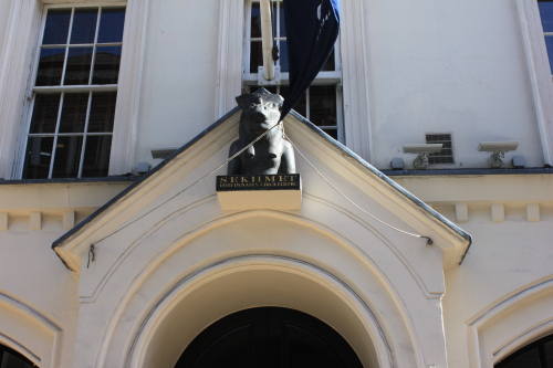 Sotheby's entrance, Sotheby's London