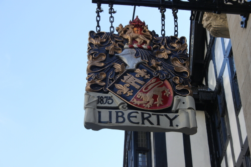 Liberty department store sign