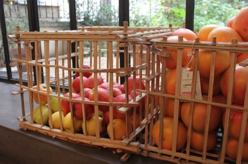 Crates of fruit at Merci