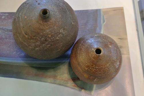 Small pottery pots