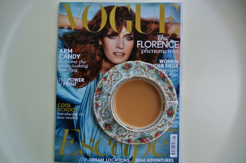 Vogue and a cup of tea