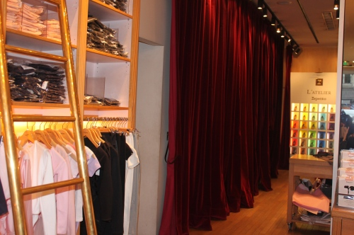 Changing rooms at Repetto