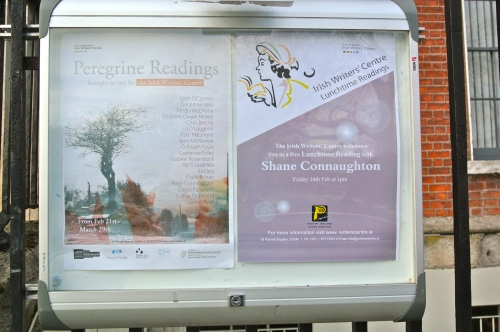 posters at the irish writers' centre