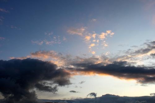 Blue grey sky