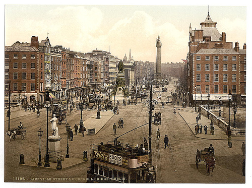 Vintage photo of Dublin - O'Connell Street