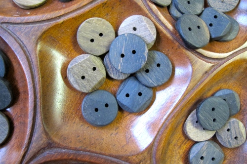 buttons made from bog oak