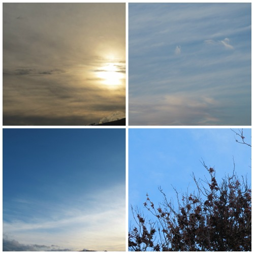 collage of the sky