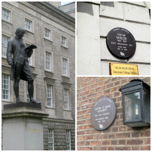 statue and plaques