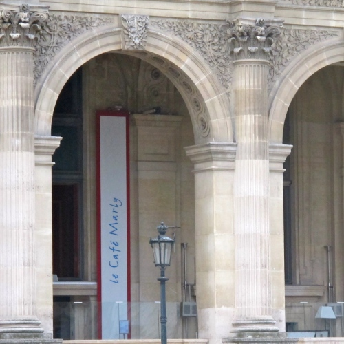 cafe marly at the louvre