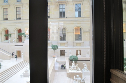 view from the interior of cafe marly