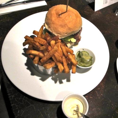 burger at the ely wine bar